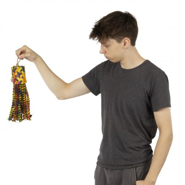 Papageienspielzeug | Chewing Log | 47 x 21 x 6,5 cm | Shredderspielzeug für Sittiche und Papageien