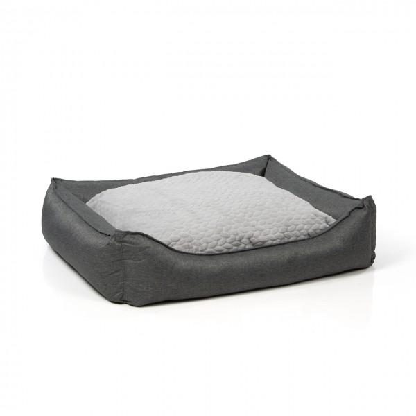 Hundebett MANCHESTER | 100 x 85 cm | daytona grau