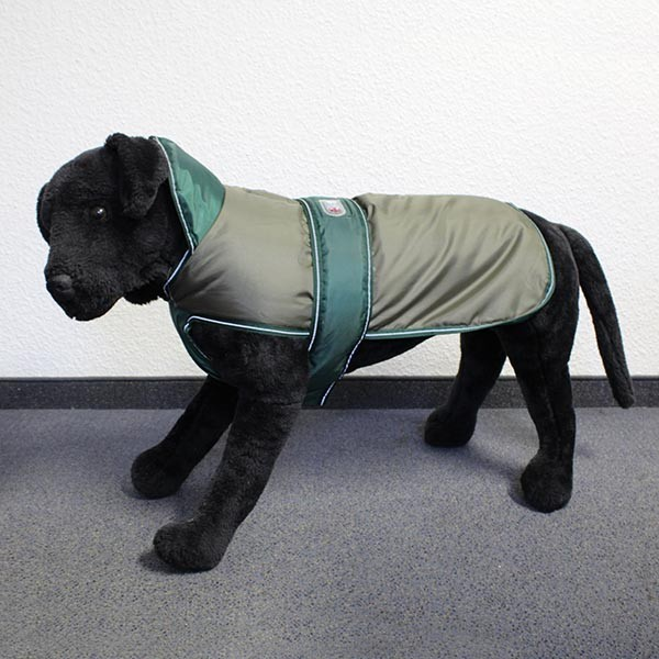 Hundemantel Eisbär - Perfect Coat Olive-Grün Rückenlänge ca. 90cm