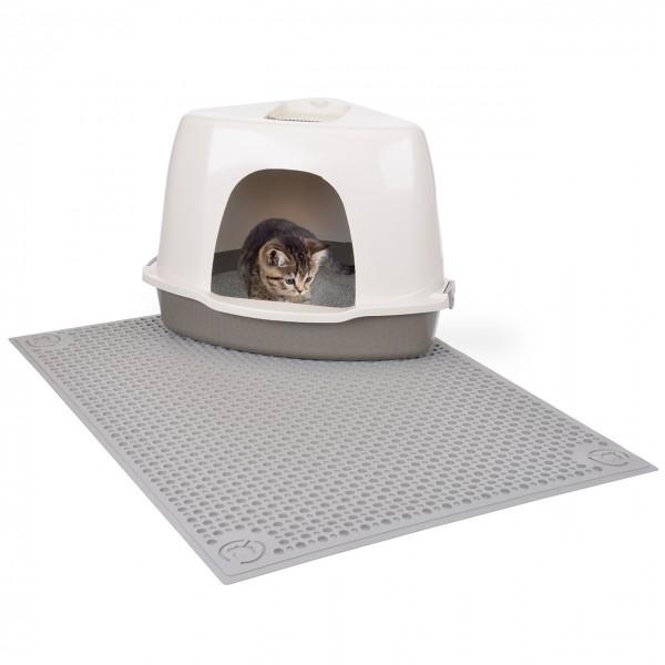 All in One - Auffangmatte - Vorleger für Katzentoilette in taupe