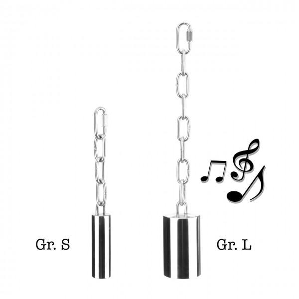 Edelstahl Glocke - L
