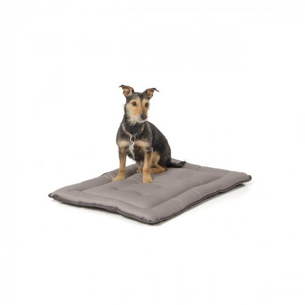 gepolsterte Wendedecke 75 x 55 cm, dunkelgrau/hellgrau bei 95°C waschbar für Hunde