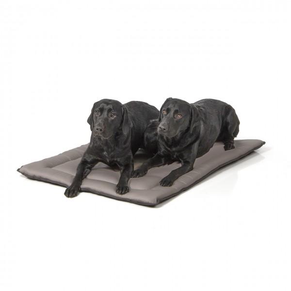 gepolsterte Wendedecke 110 x 80 cm, hellgrau/dunkelgrau bei 95°C waschbar für Hunde