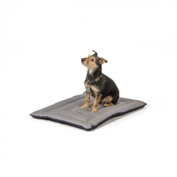 gepolsterte Wendedecke 75 x 55 cm, schwarz/grau bei 95°C waschbar für Hunde