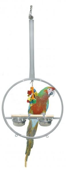 Hängefreisitz für Papageien - Playring - Platinum
