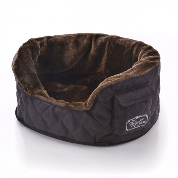 W&J NEW NELSON Hundebett - SMALL brown-black