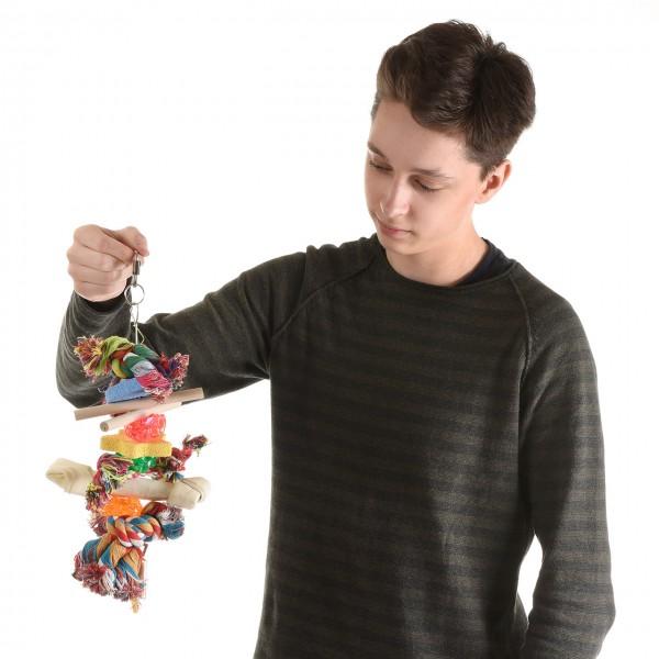 Papageienspielzeug Stone & Bone