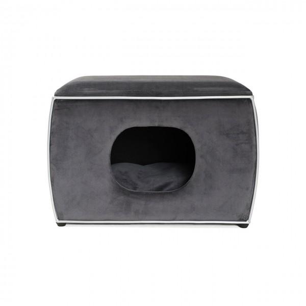 Hundehöhle Nelson | Grau | Hundebett, Kuschelhöhle für Hunde