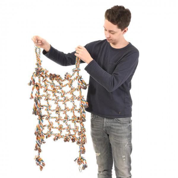 Papageienkletternetz - Small - Baumwolletz für Papageien buntes Netz