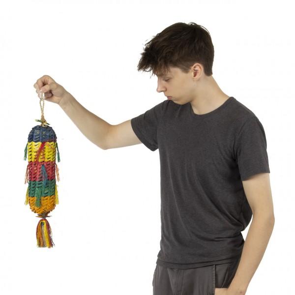 Papageienspielzeug | Princess Pinata-L  | 52 x 9  x 9 cm | Shredderspielzeug für Sittiche und Papageien