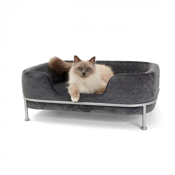 Katzenbett Windsor | Grau | Katzenkissen, Schlafplatz für Katzen