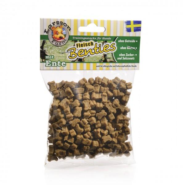 Fleisch-BENTIES Kauartikel - Fleisch-ENTE Hunde Snack Leckerlie 150gr