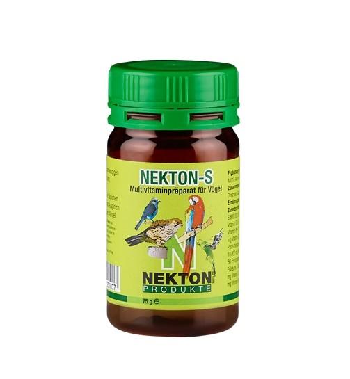 Vitamine NEKTON-S - 75 g für Vögel | Sittiche und Papageien | Multivitaminpräparat