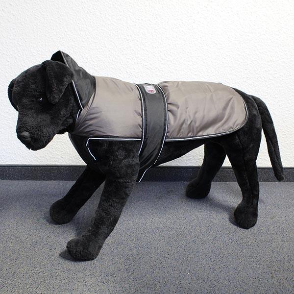 Hundemantel Eisbär - Perfect Coat Grau-Schwarz Rückenlänge ca. 25cm