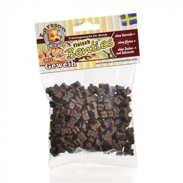 Fleisch-BENTIES Trainingssnack mit Geweihmehl Snack Leckerlie 150gr
