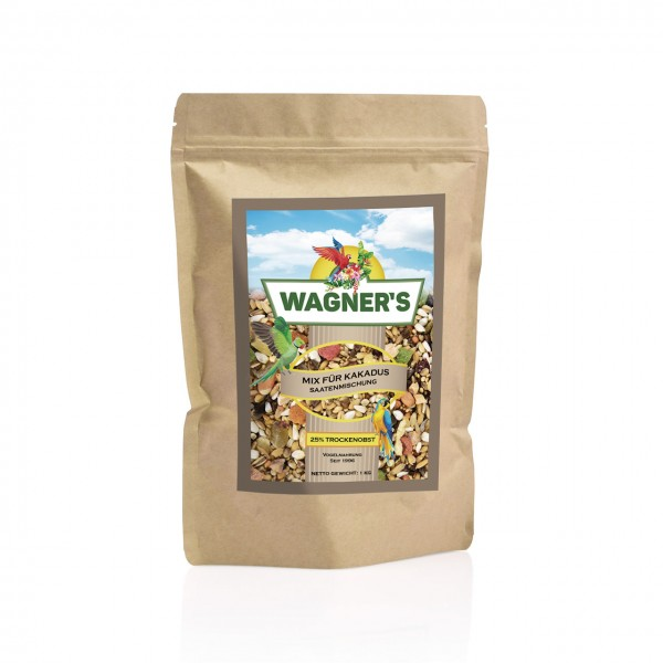 Wagner''s Mix - Papageienfutter für Kakadus - 1 kg Saatenmischung