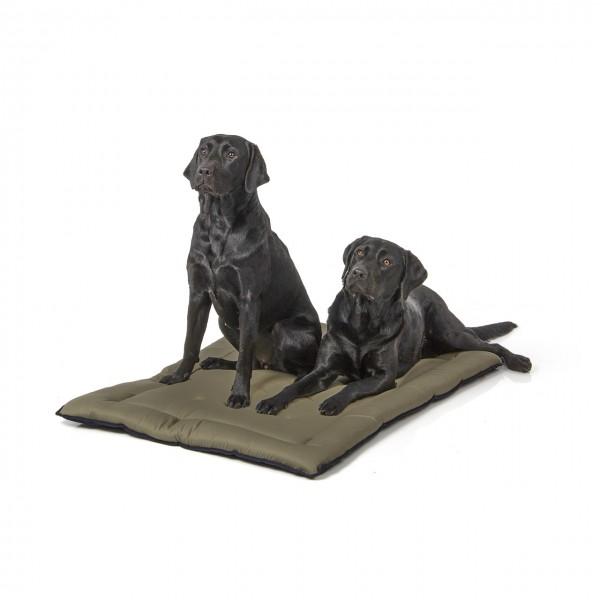 gepolsterte Wendedecke 110 x 80 cm, dunkelblau/oliv bei 95°C waschbar für Hunde