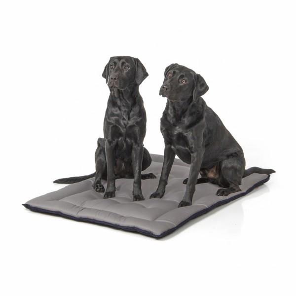 gepolsterte Wendedecke 110 x 80 cm, schwarz/grau bei 95°C waschbar für Hunde