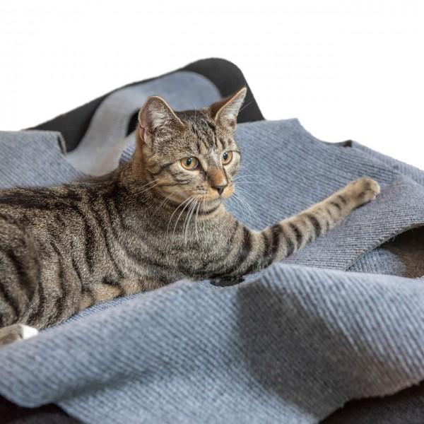 Spielteppich für Katzen - Katzenteppich | grau