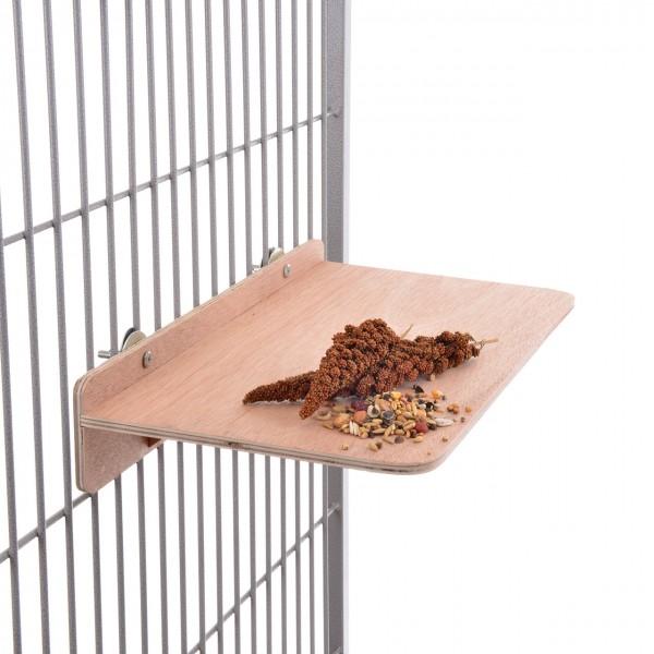 Sitzbrett XXL 33 x 40 x 7,5 cm für alle Sittiche & Papageien