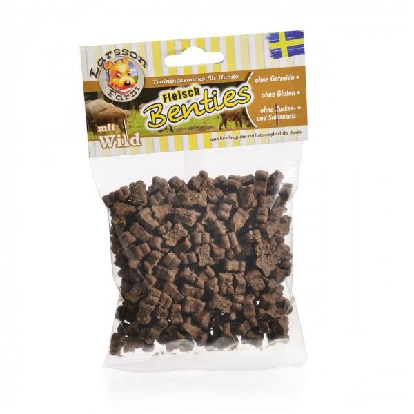 Fleisch-BENTIES Kauartikel - Fleisch-WILD Hunde Snack Leckerlie 150gr