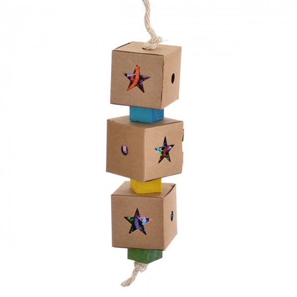 Vogelspielzeug Triple Shred & Find Foraging Toy-S