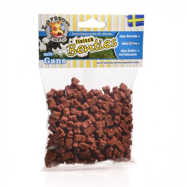 Fleisch-BENTIES Kauartikel - Fleisch-GANS Hunde Snack Leckerlie 150gr
