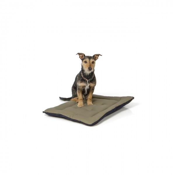 gepolsterte Wendedecke 60 x 45 cm, dunkelblau/oliv bei 95°C waschbar für Hunde