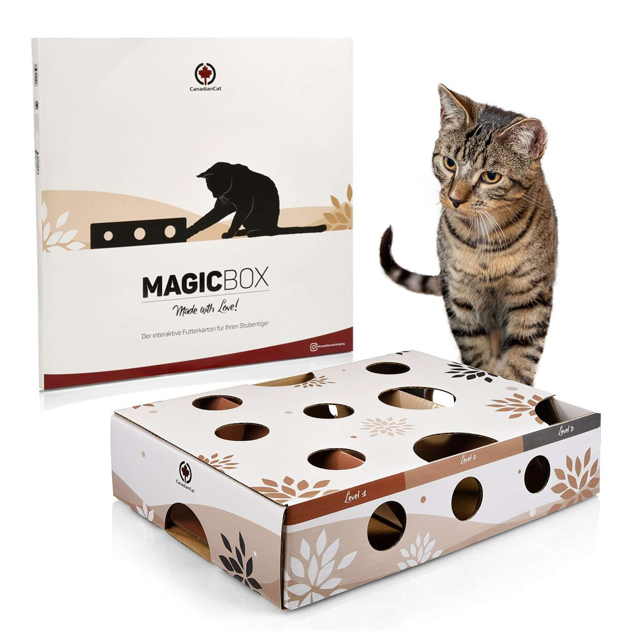 Cat toy MagicBox   approx. 8 x 8 x 8,8 cm   activitybox intelligence toy  food game agility