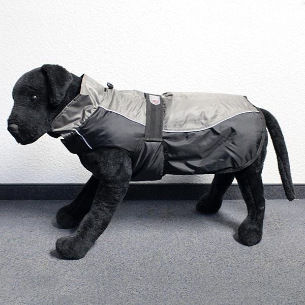 Hundemantel Eisbär - Classic Coat Grau-Schwarz Rückenlänge ca. 75cm