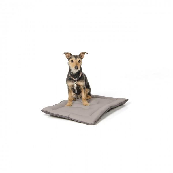 gepolsterte Wendedecke 60 x 45 cm, dunkelgrau/hellgrau bei 95°C waschbar für Hunde