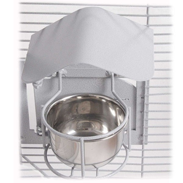2-er Set Feeder Shield (Napfdach) - Large Platinum