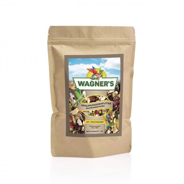 Graupapageienfutter - 1 kg Wagner''s Saatenmischung für Graupapageien