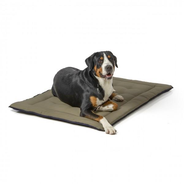 gepolsterte Wendedecke 130 x 90 cm, dunkelblau/oliv bei 95°C waschbar für Hunde