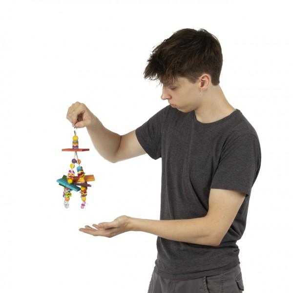Wiggles & Wafers   Vogelspielzeug mit Holz und Kunststoff ca. 26 x 15 x 15 cm