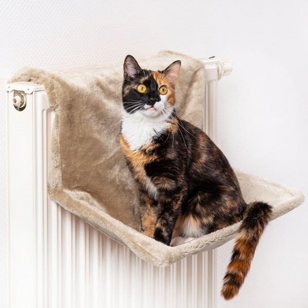 Liegemulde für Katzen | Heizungs-Liege Beige