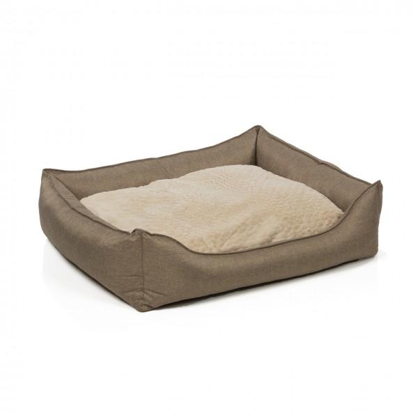 Hundebett MANCHESTER   100 x 85 cm   braun meliert