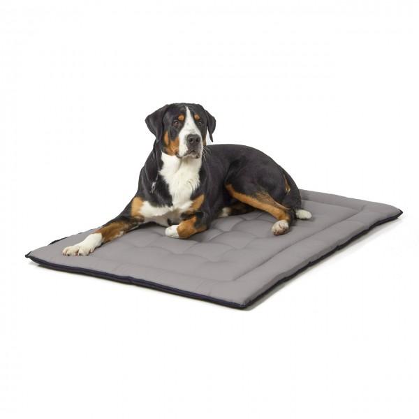gestepptes Hundekissen 130 x 90 cm, schwarz/grau bei 95°C waschbar für Hunde