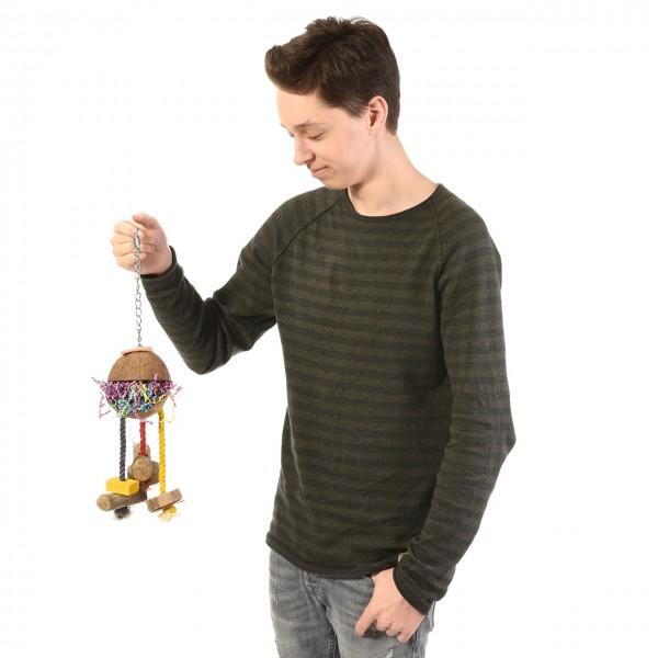 Vogelspielzeug Kokusnuss zum befüllen