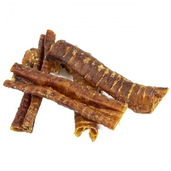 Snacks für Nahrungsmittelallergiker   Pferdestross   Getrocknete Luftröhre vom Pferd ca. 250g.