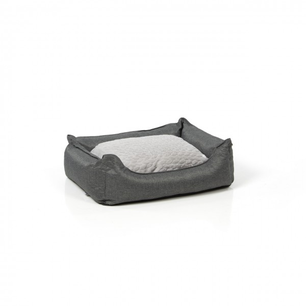 Hundebett MANCHESTER | 70 x 55 cm | daytona grau