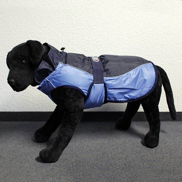 Hundemantel Eisbär - Classic Coat Blau-Blau Rückenlänge ca. 75cm