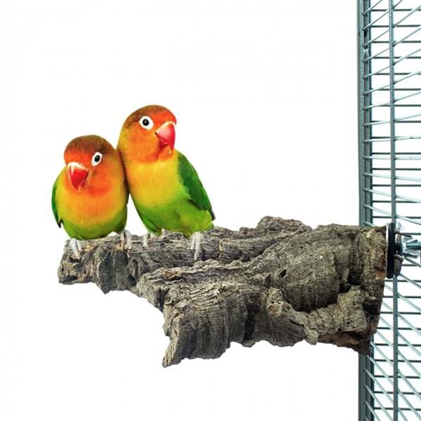 Kork-Sitzbrett SMALL für Sittiche und kleine Papageien ca. 10x10cm