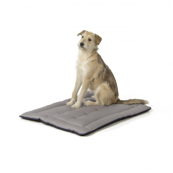gepolsterte Wendedecke 90 x 70 cm, schwarz/grau bei 95°C waschbar für Hunde