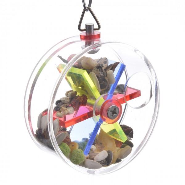 Vogelspielzeug Treat Wheel für Sittiche & Papageien