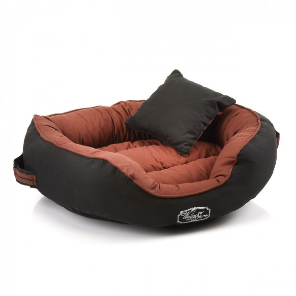 Hundebett DERBY - SMALL Brown-Black von W&J