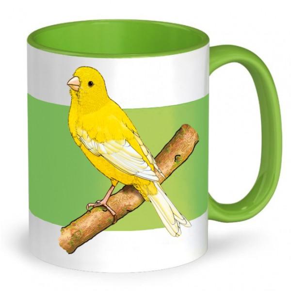 Tasse: Kanarienvogel Gelb