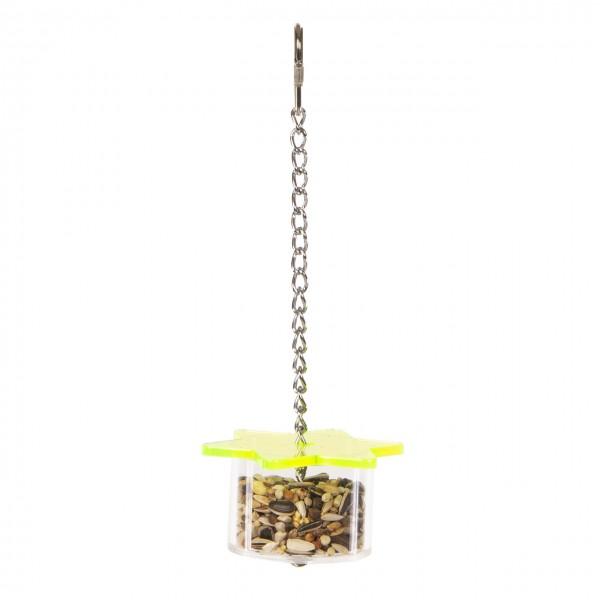 Foraging Star Feeder  - Versteckspielzeug für Sittiche & Papageien | Futterspielzeug ca. 8 x 8 x 24 cm