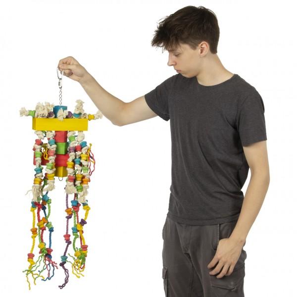 XXL Papageienspielzeug Giant - gigantisches Papageien Spielzeug für Aras, Kakadus & Graupapageien Wood n Rope