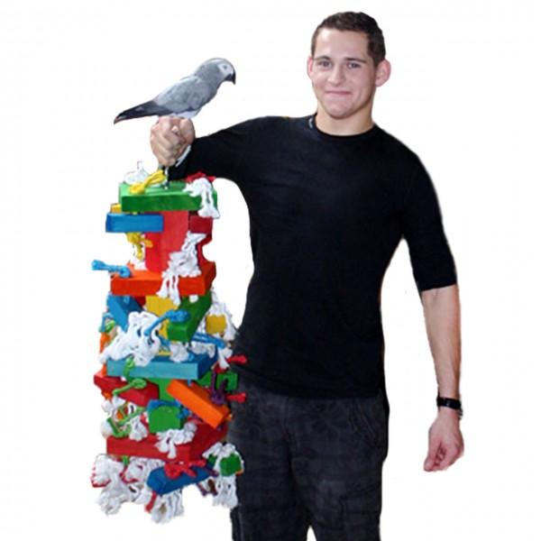 Papageienspielzeug Mammuth Bloc''s XXL